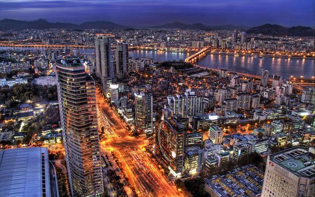首尔在内的韩国的城市显得有点其貌不扬